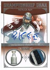 2010-11 Panini PATRICK ROY Dominion Championship Gear Autographs Patch #d 10/10