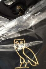 *AUTHENTIC* NEW OVO DRAKE OCTOBER'S VERY OWN BLACK CENTRE OWL HOODY LARGE L
