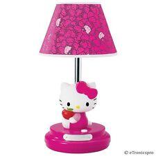 NEW Sanrio HELLO KITTY Girl Child Kid Children Magenta TABLE LAMP Collectible