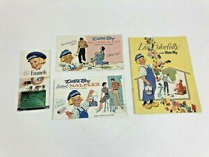 4 Vintage 50s 60s PAINT BROCHURE LOT color sample advertising mid century modern