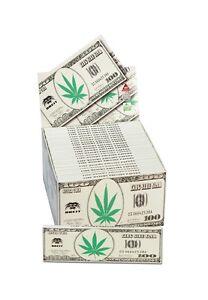 50 x King Size Slim KS BLÄTTCHEN / SMOKING PAPERS DOLLAR Box BREIT Hanfblatt NEU