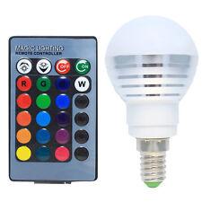 LED Lampen 3W Dimmbar E14 RGB mit Farbwechsel, inklusive Fernbedienung