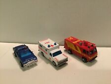 Lot Of 3 Matchbox Emergency Vehicles: Pacific Ambulance, State Police & Command