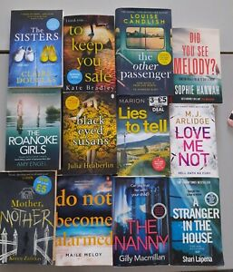 PSYCHOLOGICAL THRILLER books bundle x12, MOTHER, LOUISE CANDLISH, lieds to tell