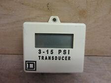 Square D 52010-502-50 Transducer 3-15PSI Used CSQ