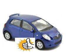 Toyota Yaris 2nd gen Japan model car blau blue Welly diecast scale 1:34 boxed