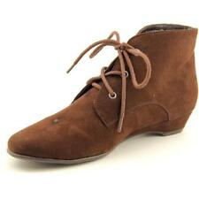 Botas de mujer de tacón medio (2,5-7,5 cm) de color principal marrón de lona
