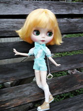 Blythe Nude Doll from Factory Matte Face Jointed Body Yellow Hair With Bang