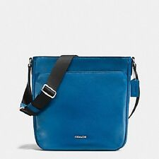NWT COACH MENS F71692 DENIM CAMDEN LEATHER SHOULDER TECH CROSSBODY BAG