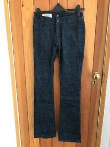 quiksilver raw indigo denim bootleg bootcut jeans 24 waist bnwt