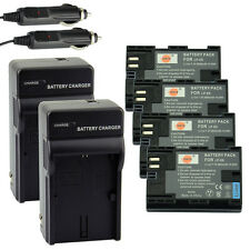 DSTE 4x LP-E6 Battery + 2 x Charger For Canon EOS 5DS R 5D 80D 7D Mark III II