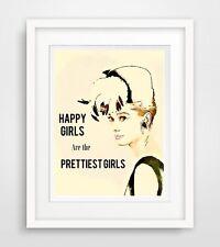 Audrey Hepburn spruch Druck Bild poster deko spruch leben motivation wohnung