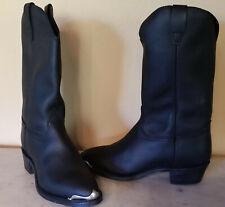 New listing Georgia Boot 11055 Womens Western Cowboy Leather Biker Boots Black 8 1/2 M Usa