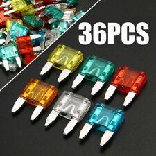 36X Auto Car Truck Mini Blade Fuses 7.5A 10A 15A 20A 25 30A Assortment Mixed Kit