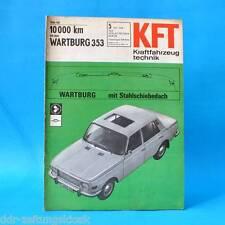 DDR KfT Kraftfahrzeugtechnik 5/1968 Wartburg 353 Glas 3000 Kreidler Florett THK