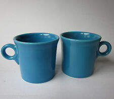 Homer Laughlin Fiesta Turquoise Blue Coffee Mug Set 2
