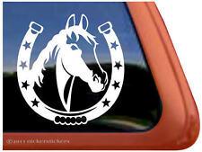 Horseshoe Horse Head ~ High Quality Equestrian Vinyl Window Decal Sticker