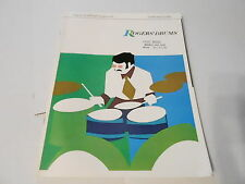 VINTAGE MUSICAL INSTRUMENT CATALOG #10107 - 1970 ROGERS DRUMS and OUTFITS