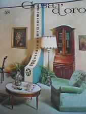 Casa d'Oro - antiquariato arredamento vol.58 1966