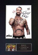 More details for #415 cm punk reproduction signature/autograph mounted signed photograph a4