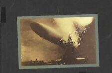 Nostalgia Postcard German airship Hindenburg Explodes  1937