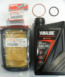 YAMAHA WR125R WR125X WR125 SERVICE KIT with GENUINE YAMAHA OIL, OIL & AIR FILTER