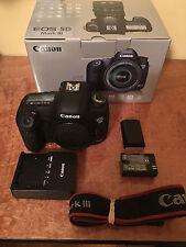 Canon EOS 5D Mark III 22.3MP Digital SLR Camera Body in Original Box with Accs