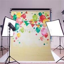 5x7FT Birthday Ballon Flag Vinyl Photography Backdrop Background Studio Props
