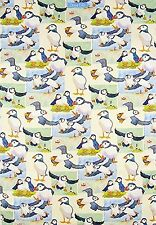 Emma Ball Repeating Puffins 100% Cotton Tea Towel - Full Range In Stock