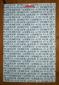 Domestic Goddess and Kitchen Queen cotton tea towel by Emma Bridgewater