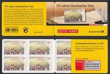 "Bund MH 68 a **  175 Jahre Hambacher Fest 2007 10 x Nr.2605 mit ""grünem Punkt"""