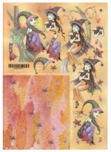 Molly Harrison Fantasy & Fairy Art -various- 2*Non-die-cut A4 Decoupage Sheets