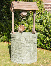 Garden Wishing Well Fountain Outdoor Water Feature Self Contained UV Resistant