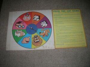 FELIX THE CAT  1960 GAME INSERT SPINNER   MILTON BRADLEY COLORFUL