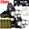 High Power 350000LM T6 LED Headlamp Headlight Torch Rechargeable Flashlight Lot