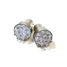 2x Blue 11-LED [BA15S,382,1156,P21w] 12v Light Bulbs
