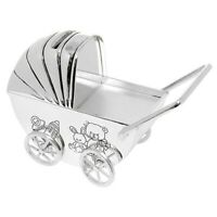 silver plated pram money box,new by shudehill,mt8612 rrp £22.99