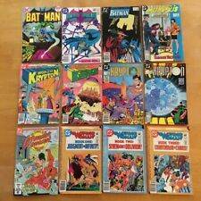 DC Bronze Age Comics NICE 12 Book Lot BATMAN, WONDER WOMAN, SUPERMAN, KRYPTON