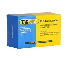 Tacwise Type 53 10mm Galvernised Staples for Staple Gun (Pack of 5000) 10 mm