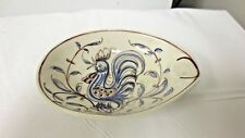 Older Anfora Agueda hand Painted Portugal 16 Marked Ashtray-Stylized Rooster