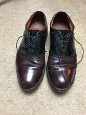 Allen Edmonds Shelton Saddle Dress Shoes - Black/Oxblood (burgundy)  Mens 8 1/2B