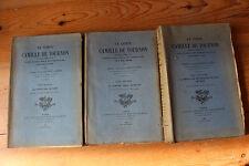 Le Comte Camille de TOURNON - abbé Jacques MOULARD - ed. H. Champion 1929, 3 vol