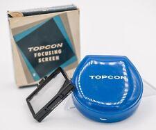 Boxed Topcon RE Super D DM 35mm Film SLR Camera Focusing Screen No.3 Aerial Spot