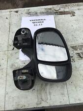 2002-12 Vauxhall Vivaro Os Drivers ) Wing Mirror (Black) C Pics