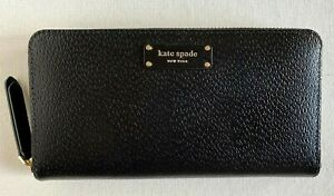 New Kate Spade New York Jeanne Large Continental Leather wallet Black