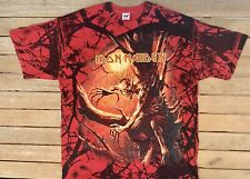 Iron Maiden All Over Print Band Tee - Fruit Of The Loom - Size XL T-Shirt