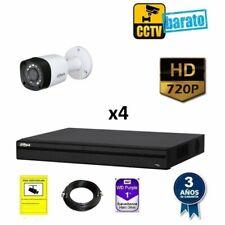 KIT DE VIDEOVIGILANCIA HD 4 CÁMARAS BULLET EXTERIOR ÓPTICA FIJA 720P