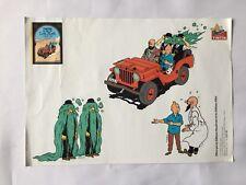 Autocollant Tintin & Milou Dupont Au pays de l'or Noir / HERGE MOULINSART ATLAS