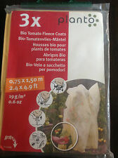 3 x PLANTO BIO TOMATO FLEECE COATS   0.75 x 1.50m    WEATHER PROTECTION     BNIB