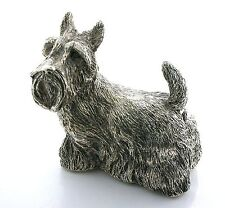 "Scottish Terrier Dog Isham Art Sterling Silver 3 2/5 x 3 1/2"" Figurine 213 Grams"